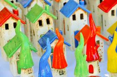 Small Houses. Small colorful Houses ready for selling Stock Image