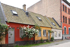 Small houses in Malmo Stock Photos