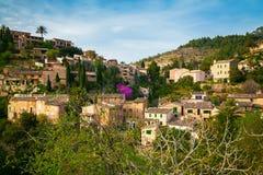 Small houses in the mountain village Deia Royalty Free Stock Photo