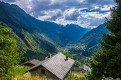 Austrian Alps Valley stock images