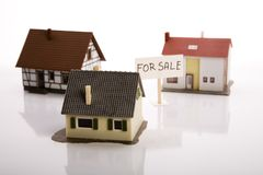 Small houses for sale Stock Photography