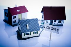 Small houses for sale Stock Photo
