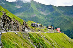 Small houses from Transfagarasan. Road Royalty Free Stock Photography