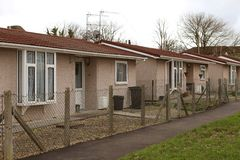 Small houses, up dated WWII prefabs Royalty Free Stock Images