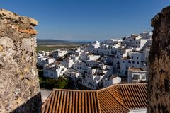 Small houses of a white village in the south of Spain royalty free stock photos