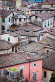 Small housing in Barga, Italy. Tightly built together Stock Images