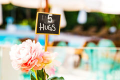 Small hugs sign Royalty Free Stock Photos