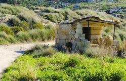 Small hunting post, Malta Stock Photography