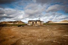 Small hut in the Bardenas Reales, Navarre, Spain Stock Photos