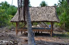 A tropical place to relax in the afternoon royalty free stock photo