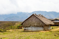 Small hut on high mountain valley Stock Photography