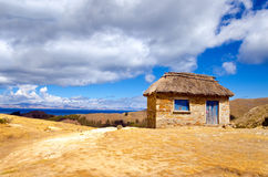 Small Hut on the Island of the Sun Royalty Free Stock Image