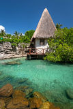 Small hut in mexican jungle Royalty Free Stock Photos