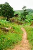 Small hut on mountain, Thailand Royalty Free Stock Image