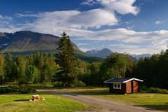 A small Hut in Norway Royalty Free Stock Photo