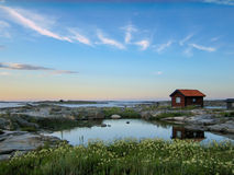 Small hut in the outer acrhipelago Stock Images