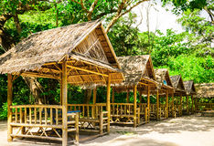 Small huts Stock Images
