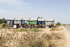 Small huts in the garbage dump village outside Phnom Penh, Cambodia Stock Photography