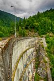 Small hydro electric dam harnessing water power Royalty Free Stock Photos