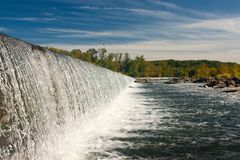 Small Hydro Power Dam Waterfall Stock Photography
