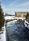 Small hydroelectric power plant in the north of Russia Royalty Free Stock Photography
