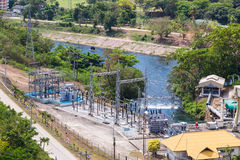 Small hydroelectric power plant Stock Photo