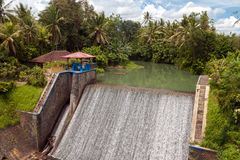 Small hydroelectric power station. In the hinterland of Bali, Indonesia Stock Image