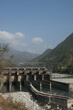 Small Hydropower Dam Stock Photo