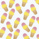 Small ice cream cones Royalty Free Stock Images