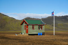 Small icelandic cabin Royalty Free Stock Image