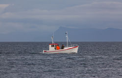 Small Icelandic fishing boat. Stock Image