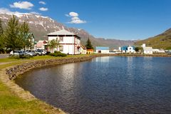 Small icelandic village - Seydisfjordur Stock Photo