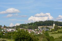 Small town on the countryside - Rohrbach royalty free stock photo
