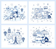 Small illustration of a modern linear style Royalty Free Stock Images