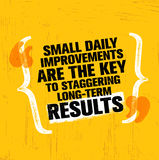 Small Daily Improvements Are The Key To Staggering Long-term Results. Inspiring Creative Motivation Quote Template. Vector Typography Banner Design Concept On Stock Photography