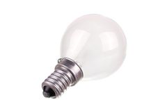 Small incandescent light bulb isolated Stock Photography