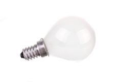 Small incandescent light bulb isolated Royalty Free Stock Photos