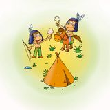 Small Indians Royalty Free Stock Image