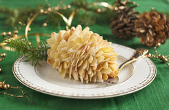 Small individual cake Pine cone Stock Images