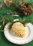Small individual cake Pine cone. Royalty Free Stock Images