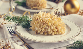 Small individual cake Pine cone. Tone imadge Royalty Free Stock Images
