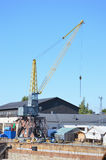 Small Industrial Crane Royalty Free Stock Image