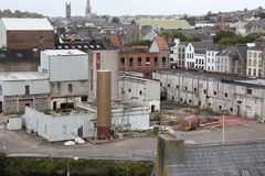Small Industrial Factory in the middle of the city. Of Cork Ireland stock photography