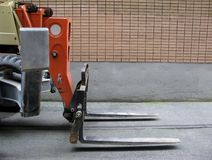Small industrial forklift Royalty Free Stock Photo