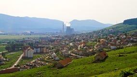 Pljevlja. Small Industrial Town Pljevlja in Montenegro Day Stock Photos