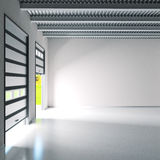 Small industry hall with roller doors Royalty Free Stock Photo