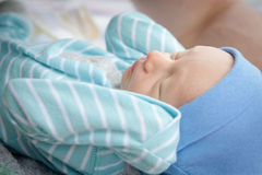Small Infant Asleep Stock Photo