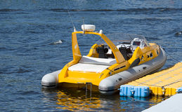 A small inflatable boat Royalty Free Stock Photos