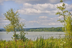Small inland Lake, Michigan royalty free stock photo