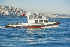 Small inshore tug boat on river Royalty Free Stock Photo